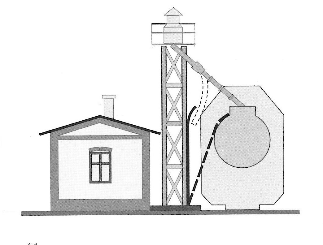 sand house and tower drawing