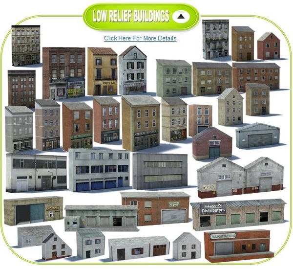 ho scale model buildings
