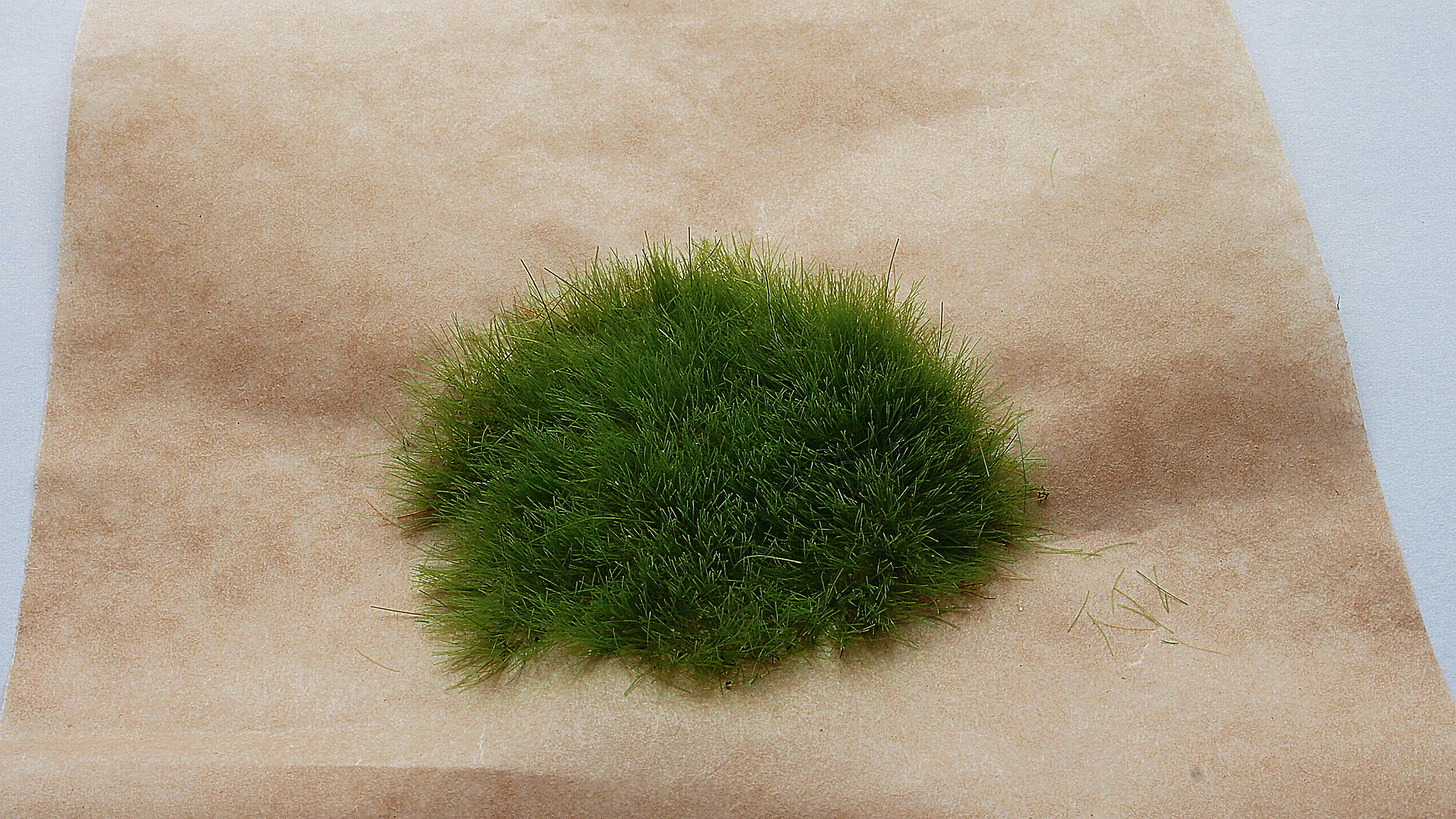 homemade static grass tuft