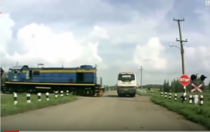 Train Car, Bus And Truck Crashes
