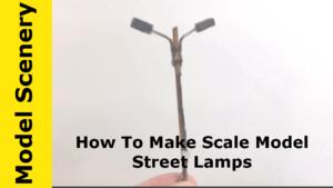 inexpensive, scratchbuilt street lamps