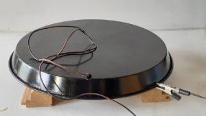 Pan used as diy flock box