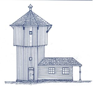 Typical narrow gauge water tower