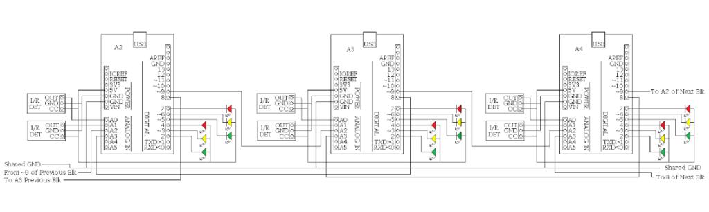Block detection wiring diagram.