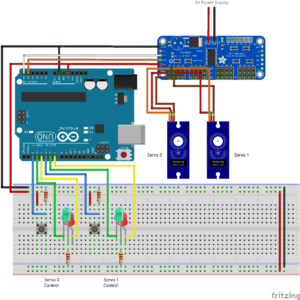 Fritzing diagram for pca9685 turnout control