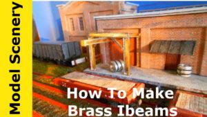 HO Scale Brass I Beams
