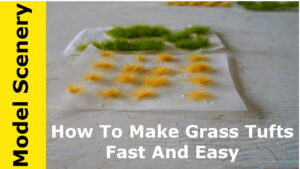 How to make grass tufts fast and easily.