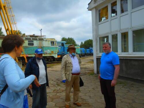 Tour host Mr. Wojtasiak  and the tour party.