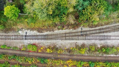 First of a series of images showing the area where locomotives took on water, discharge ash and when diesels arrived, took on fuel.