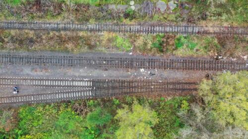 Track from Coal tower which is to right.