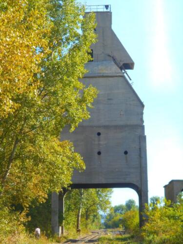 Odolany coal tower back side.