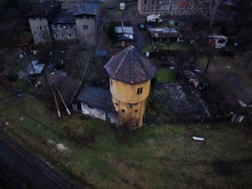 bytom water tower arial view