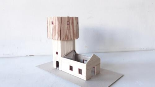 wood tower quarter view